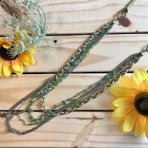 Mixed Media Layered Necklace